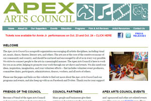 Apex Arts Council website