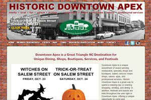 Apex Downtown Business Association website