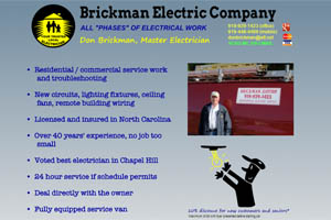Brickman Electric Chapel Hill NC