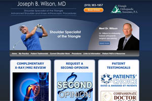 Joseph Wilson MD Orthopaedic Surgeon Raleigh and Durham NC