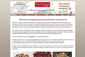 Heritage Acupuncture website