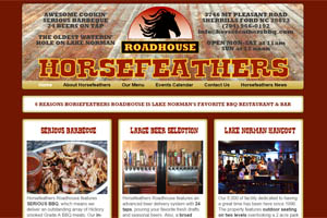 Horsefeathers Roadhouse website Sherrills Ford NC