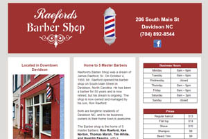 Raeford's Barber Shop Davidson NC