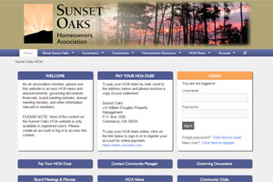 Sunset Oaks Homeowners Association