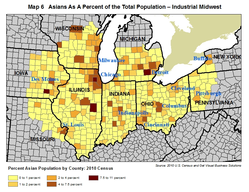 map of asian population in the industrial midwest